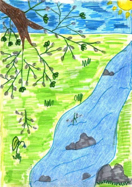 River Nature Drawings Pictures Drawings Ideas For Kids Easy And Simple
