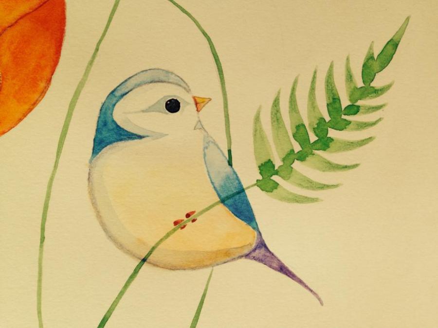 bird drawing simple