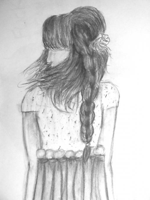 Girl With Braid Types Drawings Drawings Pictures Drawings Ideas