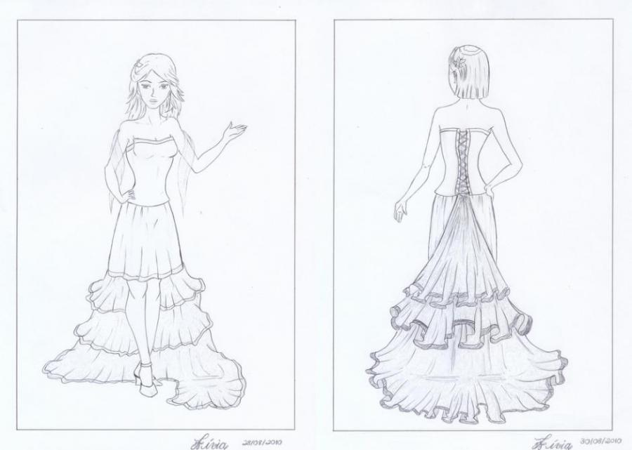 Bride Dress People Drawings Pictures Drawings Ideas For Kids