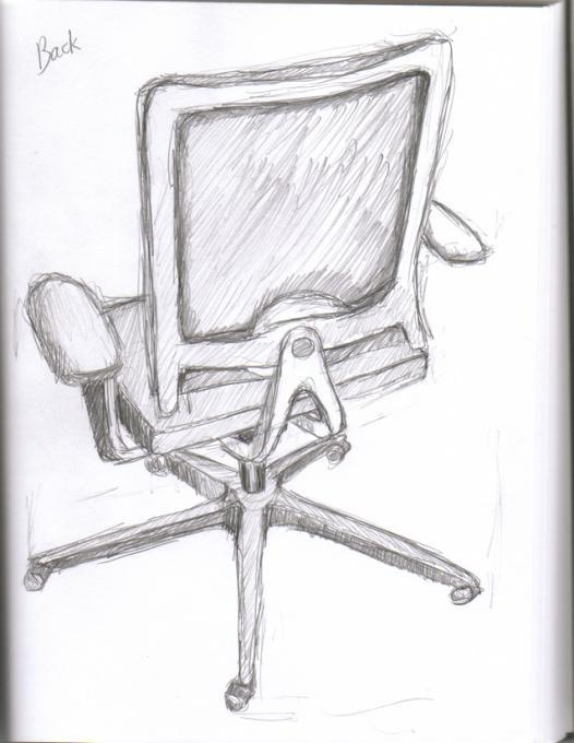 Chair Back Author Drawing