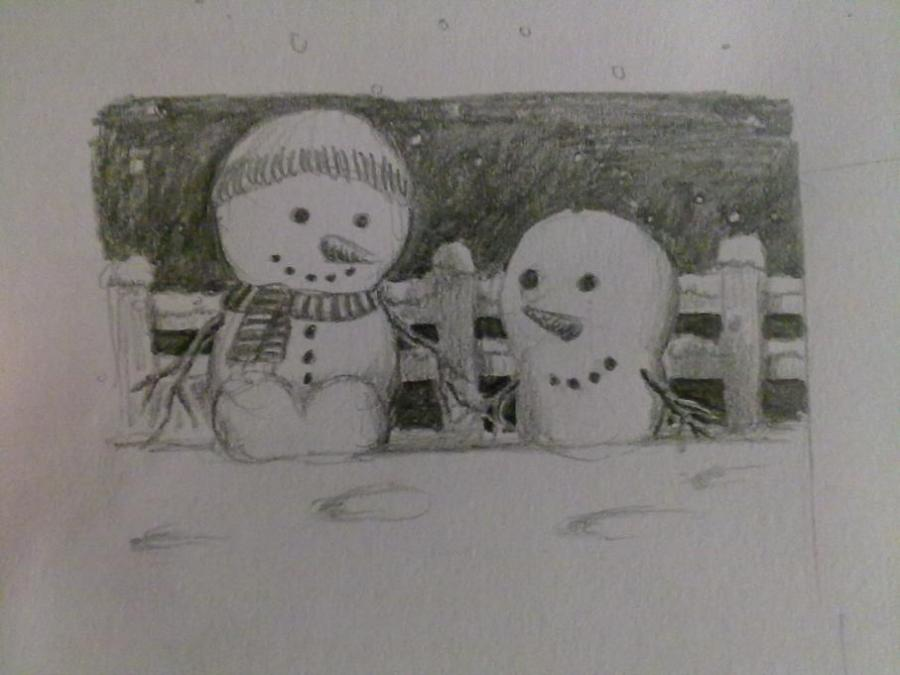 Christmas Card Doodle. Holidays. Drawings. Pictures