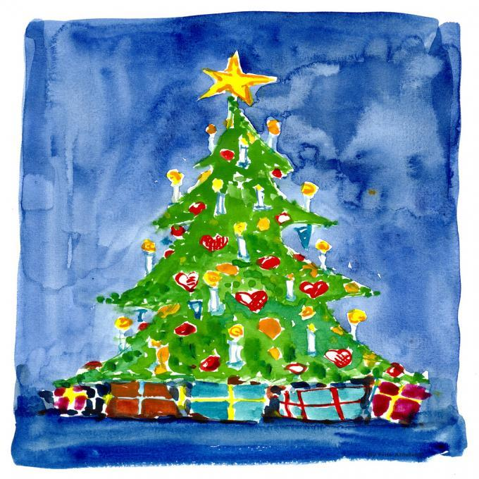Christmas Tree People Drawings Pictures Ideas For Kids Easy And Simple