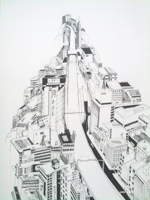 Cityscape Drawing My Country Drawings Pictures