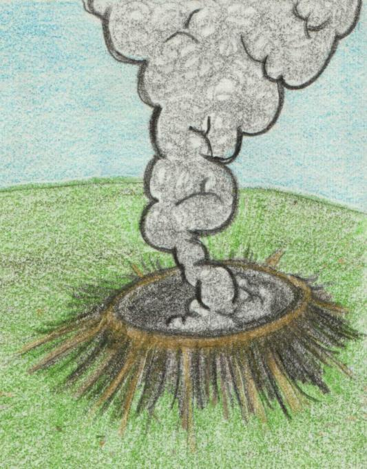 Crater Nature Drawings Pictures Drawings Ideas For