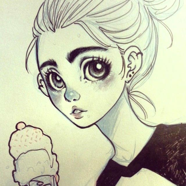 Cute Eyebrows Author Drawing