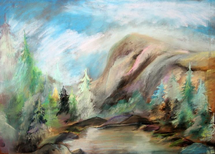Color Carpathians Nature Drawings Pictures Drawings Ideas For