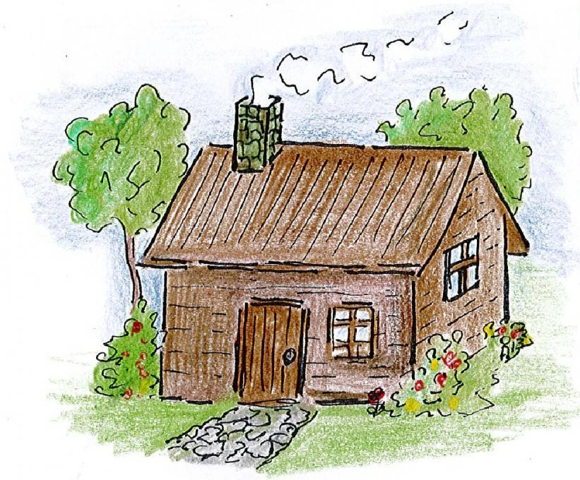 Farmers house my country drawings pictures drawings Haunted house drawing ideas