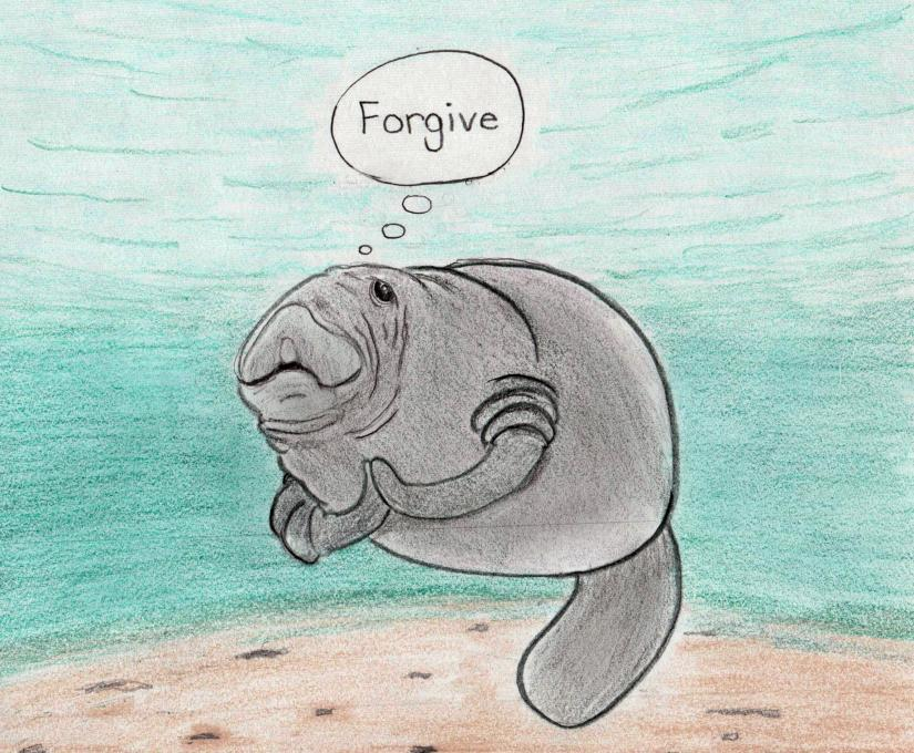 The Humanatee Of Forgiveness Animals Drawings Pictures