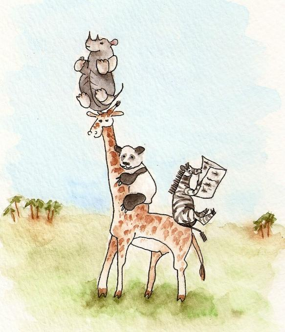 Giraffe Zoo Animals Drawings Pictures Drawings Ideas For