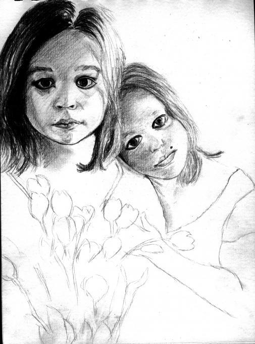 gothic children drawing  my family  drawings  pictures