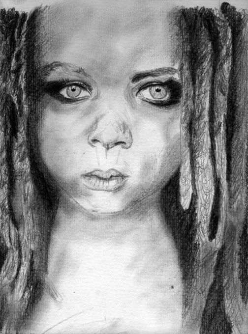 Gothic Eyes Author Drawing