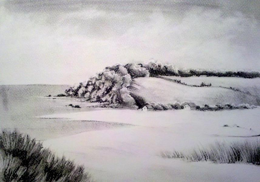 Landscape drawings nature drawings pictures drawings for What is landscape drawing