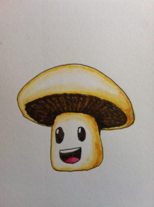 Simple Drawing Room: Mushroom Guy. Nature. Drawings. Pictures. Drawings Ideas