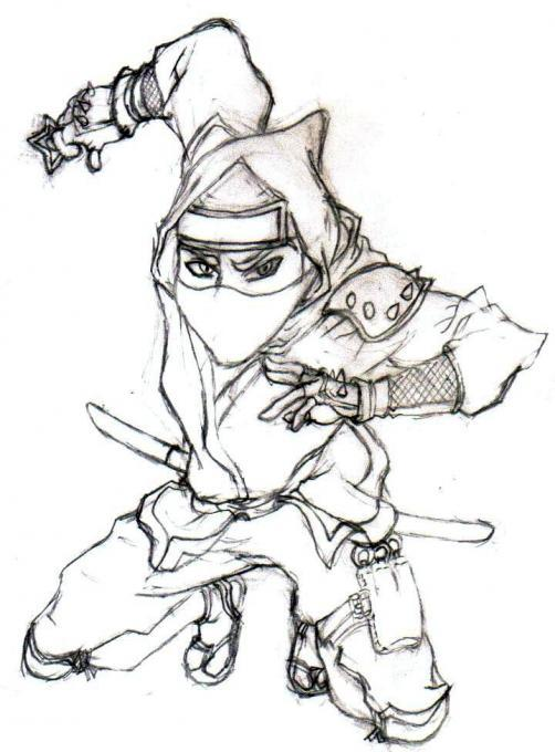 ninja People Drawings Pictures
