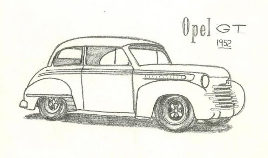 Opel GT. My country. Drawings. Pictures. Drawings ideas