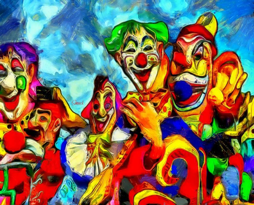 Parade Clowns Life People Drawings Pictures Drawings Ideas For