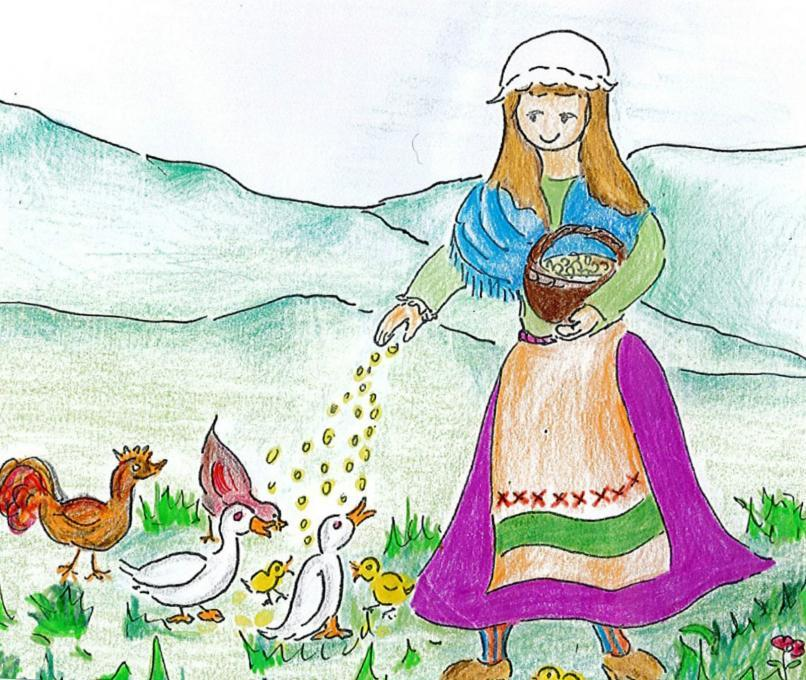 Peasant Girl People Drawings Pictures Drawings Ideas For Kids