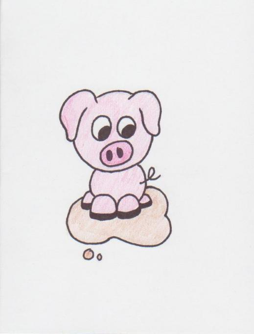 Pig In Mud Nature Drawings Pictures Drawings Ideas For Kids