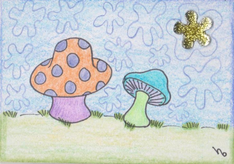 psychedelic shrooms nature drawings pictures drawings ideas - Simple Nature Drawing For Kids