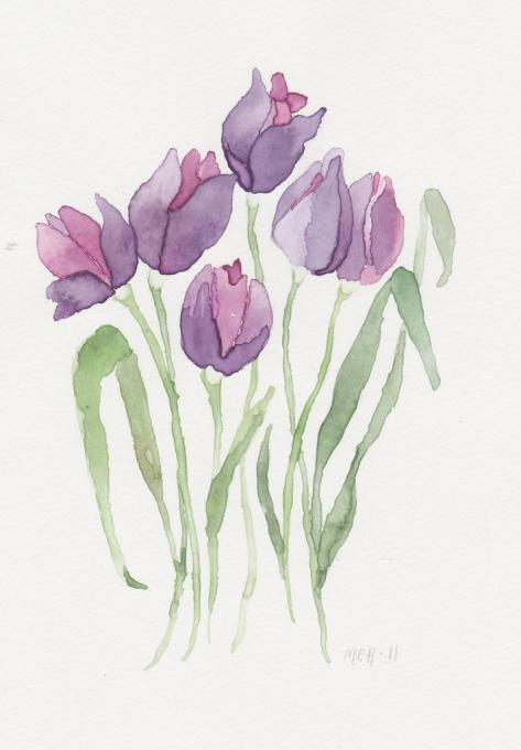Purple tulips Flowers Drawings Pictures Drawings ideas for