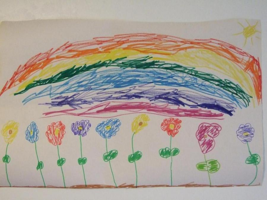 Rainbow And Flower Flowers Drawings Pictures Drawings Ideas For