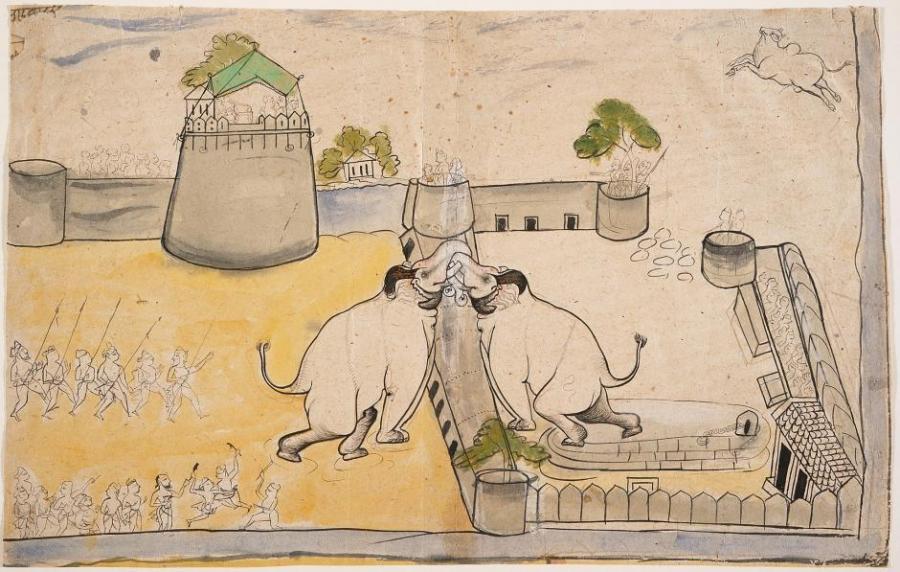 A Royal Elephant Fight