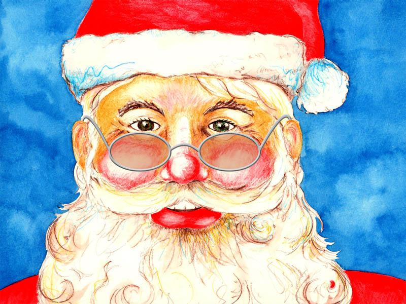 Santa Claus Holidays Drawings Pictures Drawings Ideas For Kids