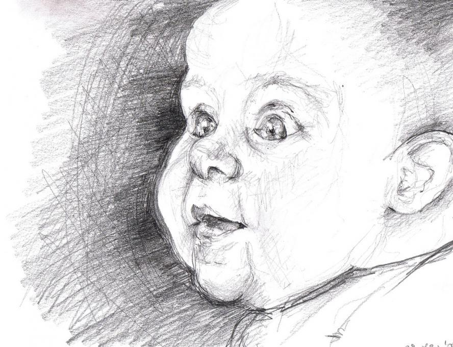Smiling Baby My Family Drawings Pictures Drawings Ideas For Kids