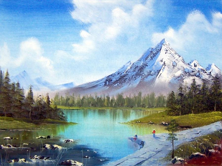 Snow Capped Nature Drawings Pictures Drawings Ideas