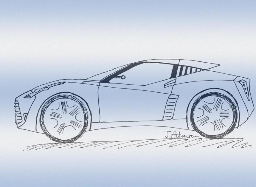 sports car doodle author drawing - Easy Sports Drawings