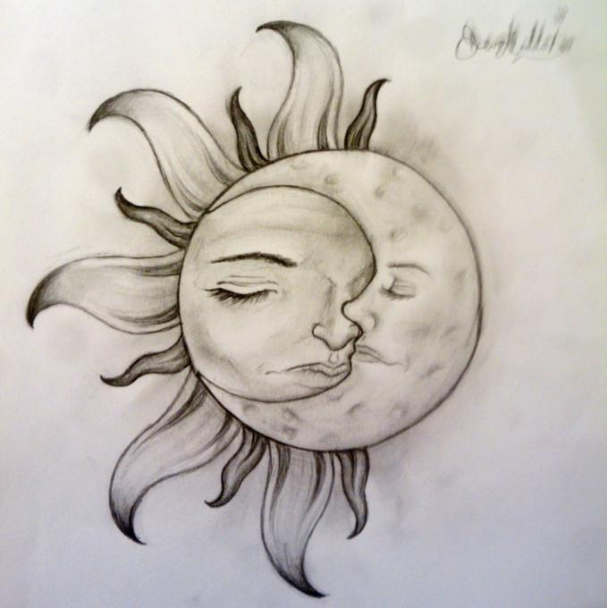 Sun And Moon Nature Drawings Pictures Drawings Ideas For Kids