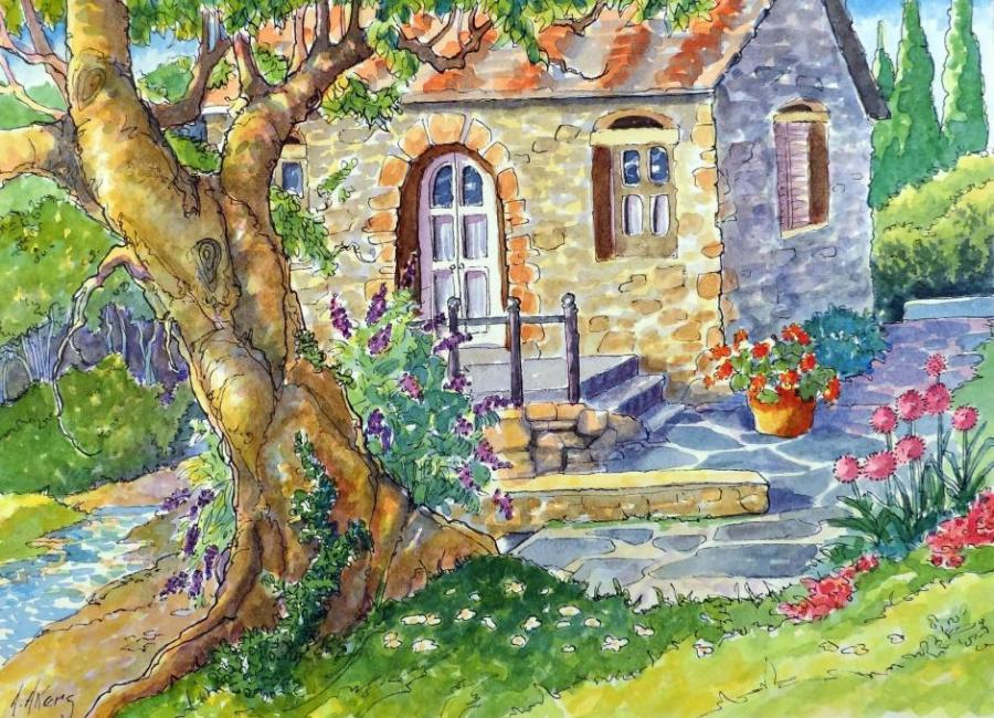 A Tuscany Cottage Life People Drawings Pictures