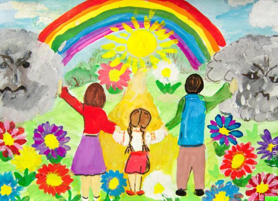 Мир глазами для детей рисунки