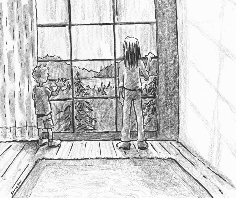 Window On The Lake Life People Drawings Pictures