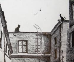 City cats.Children's Drawings