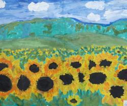 First sunflowers