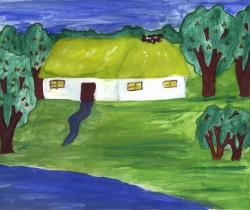 Cherry Orchard Circle houses.Children's Drawings