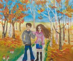 Walk.Children's Drawings