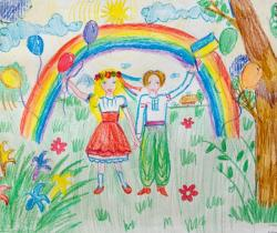 Ukrainian today.Children's Drawings