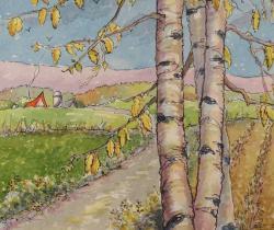 Autumn Past the Birches