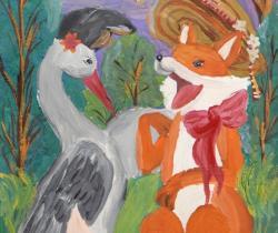 Fox and Crane