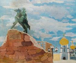 Monument to Bogdan.Children's Drawings