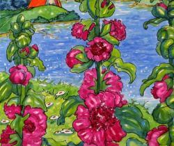 Flowers  Hollyhocks