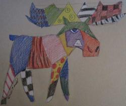 Funky moose!