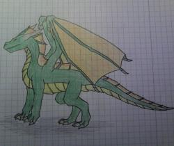 Green Dragon Drawing