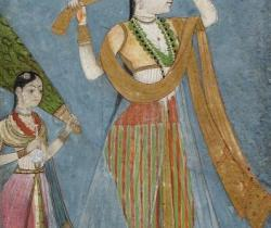 Lady Wrapping Her Turban LACMA