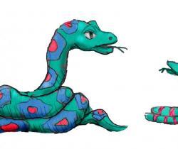 Mama snake talks