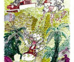 Money Bin Shower by Carl Barks