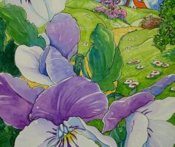 Pansies in Spring